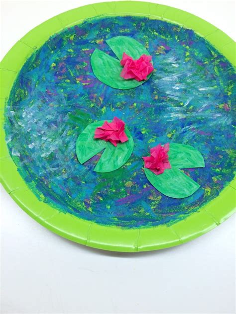 pond crafts for monet inspired water pond project for