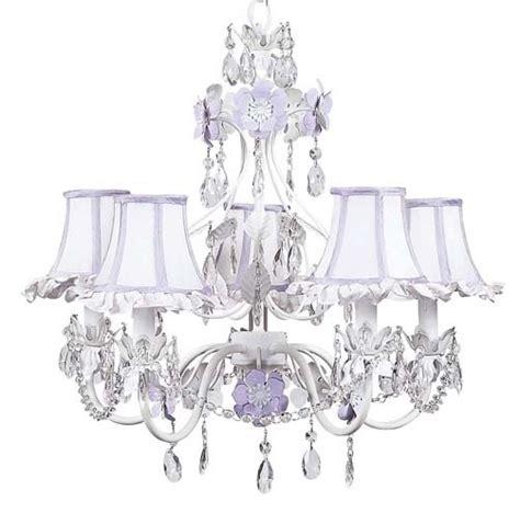 lavender chandelier 5 arm flower garden chandelier in lavender white
