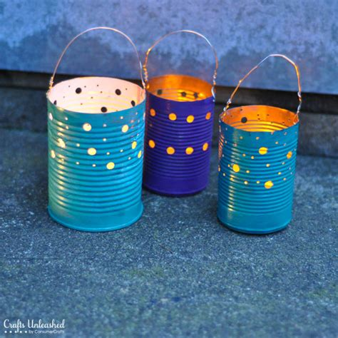 crafts can make tin can crafts make your own recycled luminaries