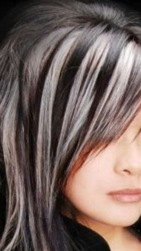 pictures of grey hairstyles with pink highlights 25 best ideas about gray streaks on pinterest silver