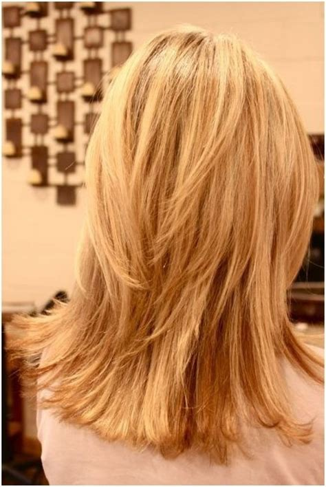 pictures of the back of shoulder lenth hair layered shoulder length hair back view