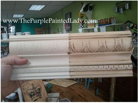 chalk paint that looks like stain gel stain the purple painted