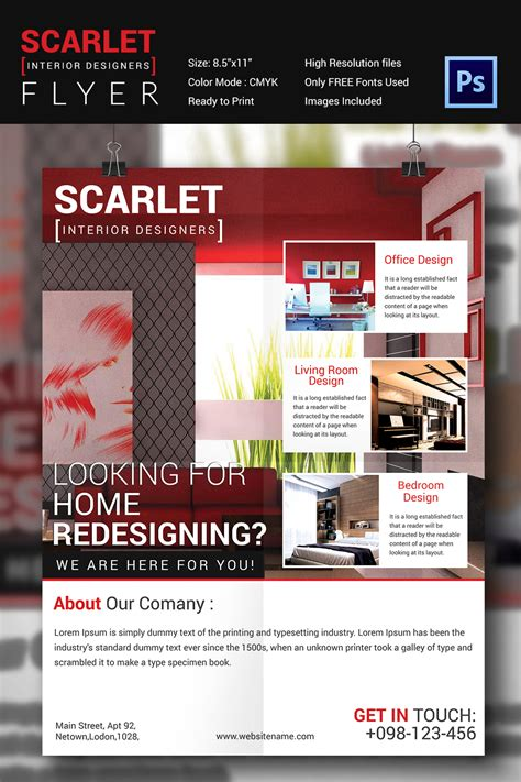furniture templates for interior design interior design flyer template 25 free psd ai vector