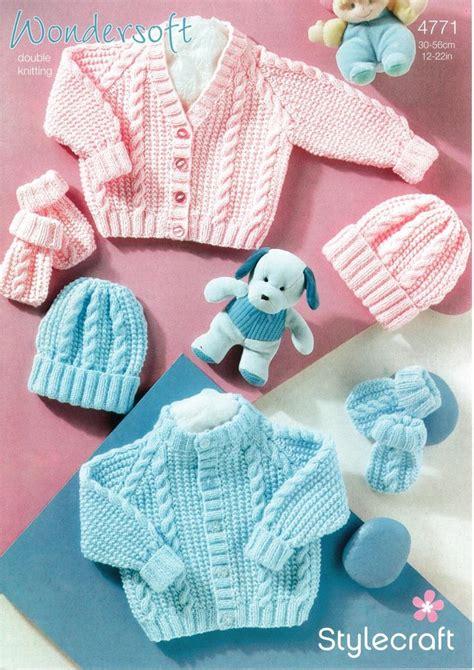 stylecraft knitting patterns to stylecraft 4771 knitting pattern babies cardigan hat and