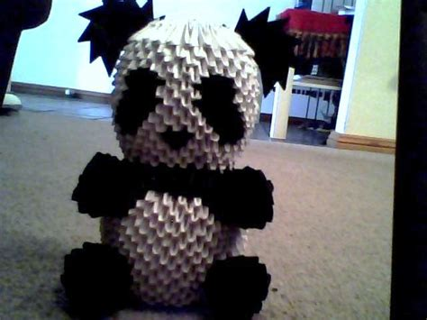 how to make 3d origami panda 3d origami panda by onelonetree on deviantart