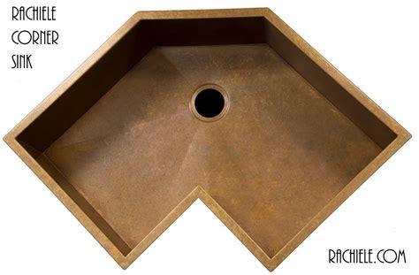 corner kitchen sinks stainless steel corner kitchen sinks in copper and stainless steel that