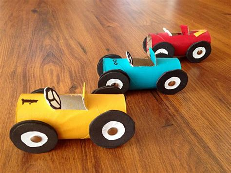 toilet paper roll car craft kid s craft toilet paper roll race cars craft