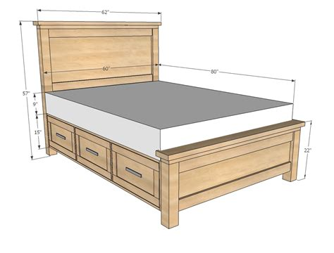 free woodworking plans for beds woodwork bed frame with drawers plans pdf plans