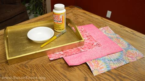 decoupage materials decoupage a breakfast tray with tutorial susan