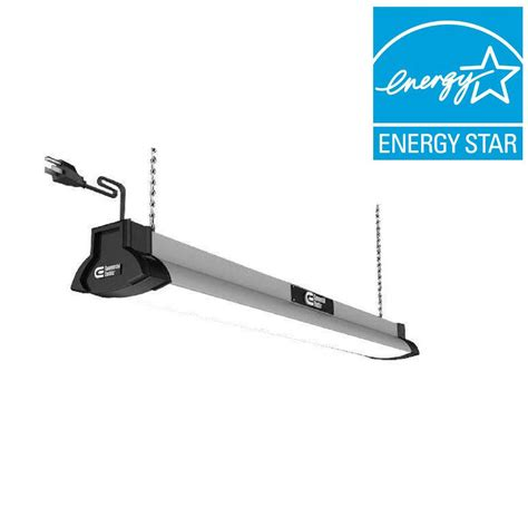 led commercial lights commercial electric 42 in brushed nickel bright cool