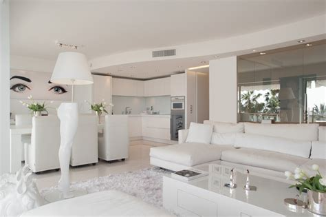 le tout blanc contemporary living room by signe int 233 rieur