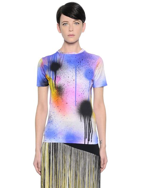 spray painting for clothes christopher spray paint print stretch jersey t shirt