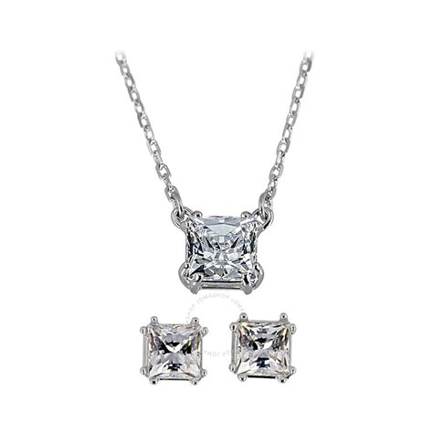 swarovski jewelry swarovski attract necklace earring set 5033022