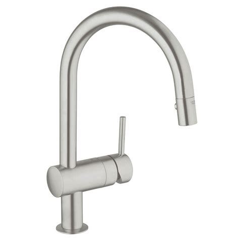 grohe kitchen faucets grohe minta single handle pull sprayer kitchen faucet