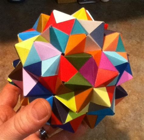 math and origami modular origami how to make a cube octahedron