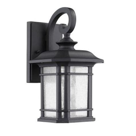 home depot outdoor lights lighting franklin transitional 1 light outdoor black