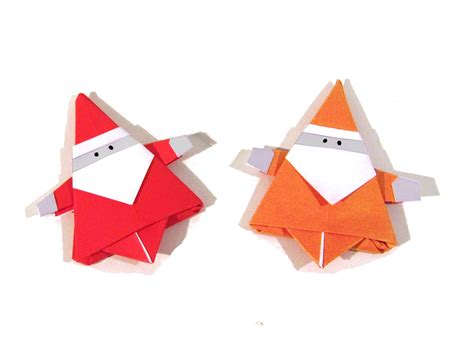 simple origami santa claus origami santa claus how to make an easy ori
