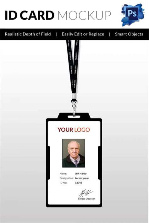 id card free 30 blank id card templates free word psd eps formats