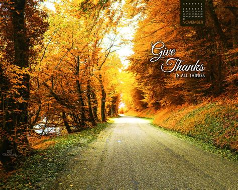 for november november 2014 give thanks desktop calendar free