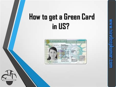 how to card how to get green card visa