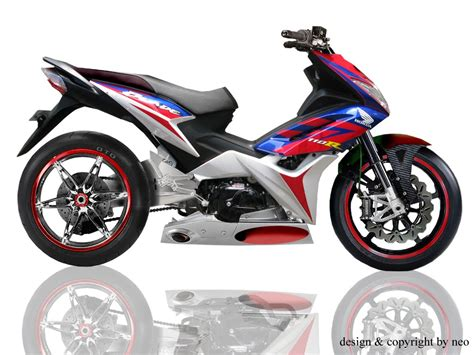 Modifikasi Motor Honda by Foto Modifikasi Motor Honda Blade Juara Motorcycle