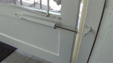 patio screen door installation how to install a screen door closer