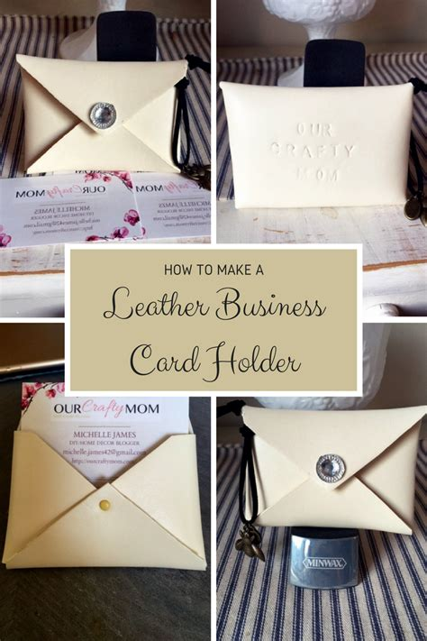 how to make a card holder how to make a leather business card holder diy