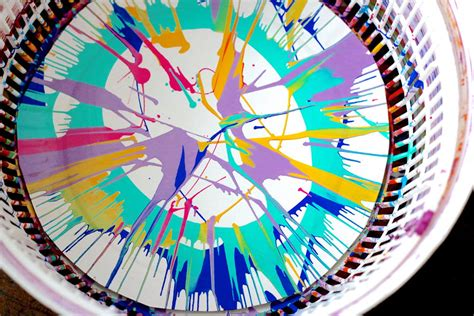 painting craft projects salad spinner painting project allfreekidscrafts