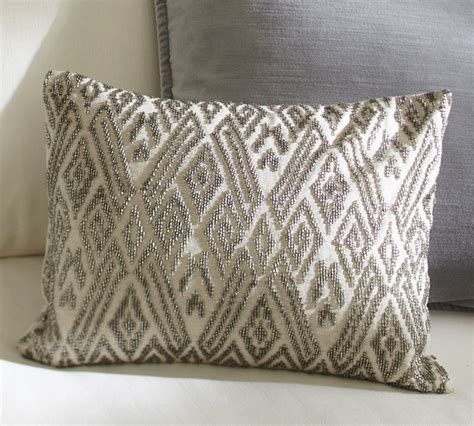 beaded decorative pillows maddie beaded lumbar pillow cover traditional