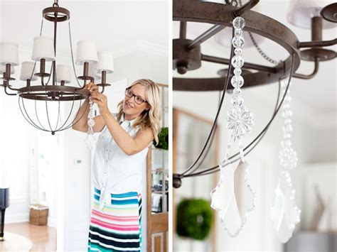 add crystals to chandelier dining room update chandelier crystals the