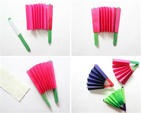 paper craft fan craft how to make a paper fan the craftables