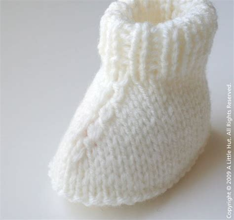 knitted booties easy bootie pattern free patterns