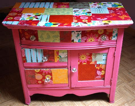 decoupage furniture twig and toadstool it s mod podge friday let s