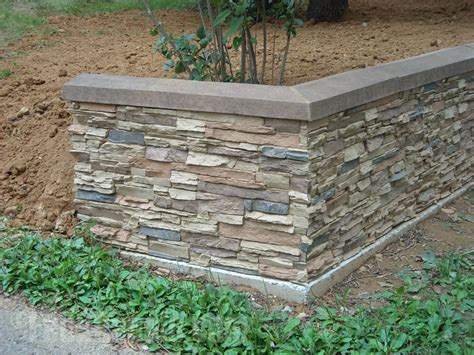 garden wall covering landscape retaining walls ideas with faux brick