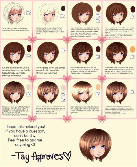 paint tool sai realistic hair tutorial sai hair tutorial by iseanna on deviantart