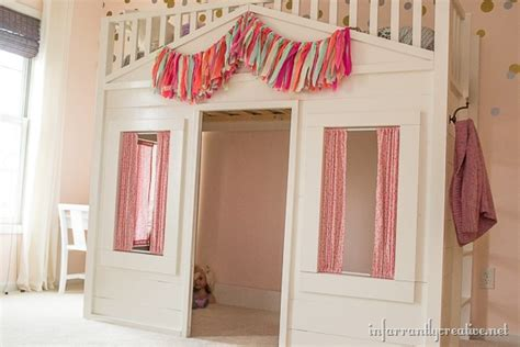 loft bed curtains pottery barn cottage loft bed knock