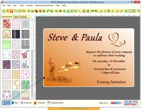 make a card for free wedding invitation wording wedding invitation maker software