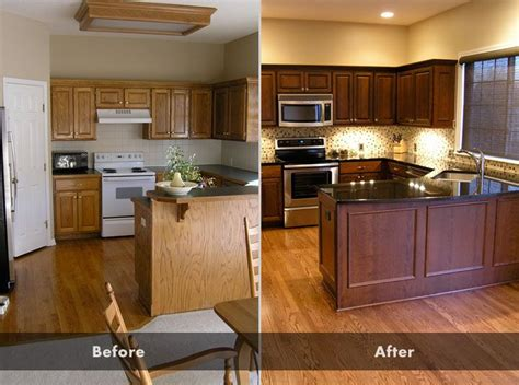 before and after kitchen cabinets 17 best ideas about oak cabinet kitchen on oak