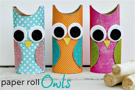 crafts you can make with toilet paper rolls owl paper roll craft