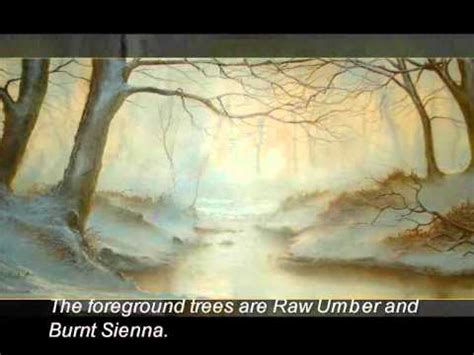 bob ross painting demo winter woodland an painting demonstration part one