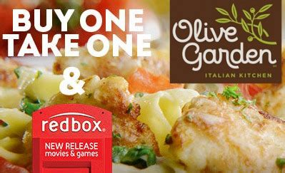 olive garden buy one take one deal and free redbox
