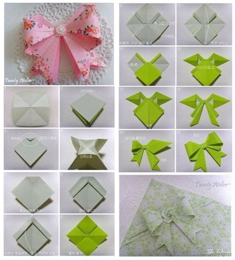 origami bow origami on origami bow paper snowflakes and