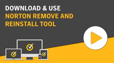 uninstall and reinstall norton product the norton