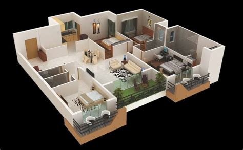 Home Design With Layout 4 bedroom apartment house plans