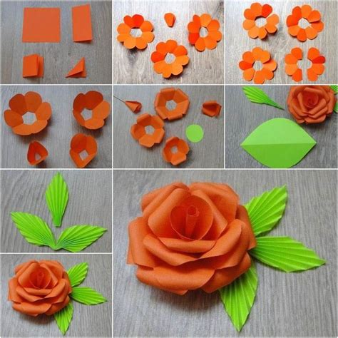paper cutting flowers crafts how to diy easy paper flower beautiful 8230 and flower
