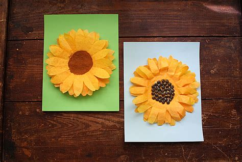 sunflower crafts for coffee filter sunflowers a sunflower craft for