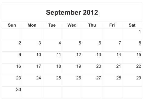 4 best images of printable calendar september 2012