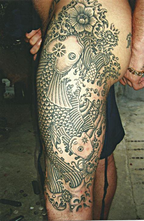 full body tribal and fish big magic tattoo koh phangan