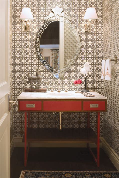 wallpaper for powder room powder rooms that make a statement