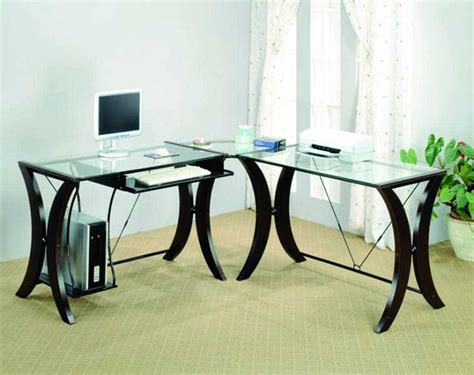 glass office desk glass corner desk home office images